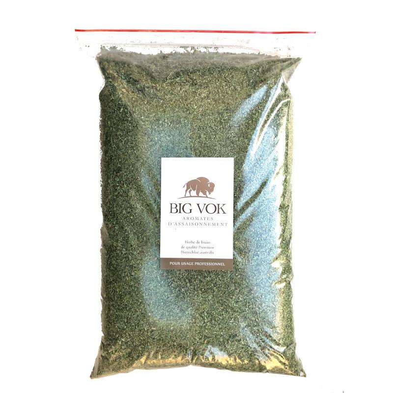 Sachet d'aromates d'assaisonnement herbe de bison au poids au kilo Big Vok