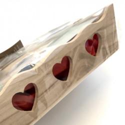 Détail du panier cadeau supérieur en bois Big Vok
