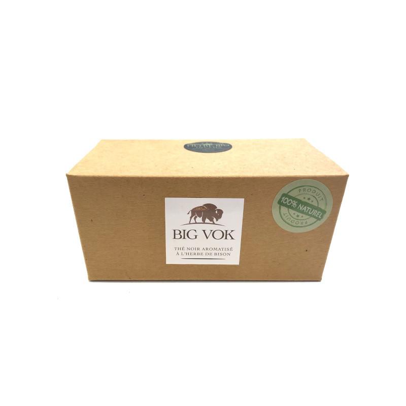 Boîte de thé noir à l'herbe de bison 40g avec filtre