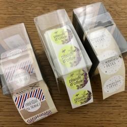 Choix d'étiquettes cadeaux OGONA